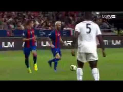 #EGA barcelona# FC BARCELONA vs LEICESTER CITY GOALS HALF TIME