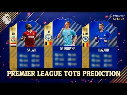 FIFA 18 | PREMIER LEAGUE TEAM OF THE SEASON (TOTS) PREDICTION!! | FT. HAZARD, DE BRUYNE, SALAH…etc