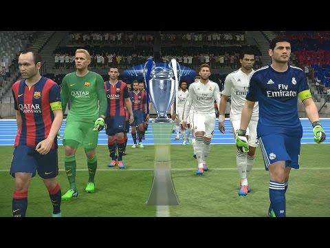 PES 2015 UEFA Champions League Final (Real Madrid vs FC Barcelona Gameplay)