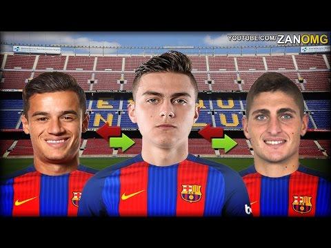 Top 10 FC Barcelona Possible Summer Transfers | Ft. Coutinho, Dybala, Verratti…etc