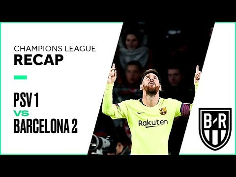 PSV vs. Barcelona Champions League Group Stage FULL Match Highlights: 1-2