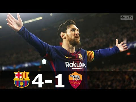 Barcelona vs Roma 4-1 – UCL 2017/2018 – Highlights (English Commentary) HD