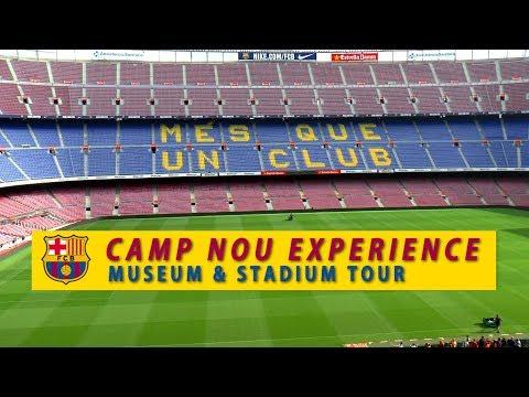 NEW! CAMP NOU EXPERIENCE  │ BARCELONA. Museum & Stadium Tour + FC BOTIGA Megastore  Full walkthrough