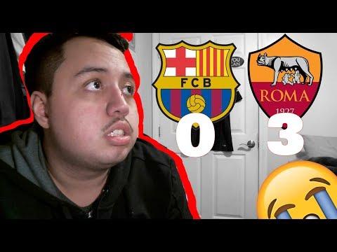 LIVE FC BARCELONA FAN REACTION!! AS Roma vs Barcelona 3-0 2018 (SAD Reaccion!)