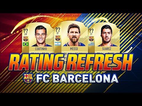 FIFA 18 | FC BARCELONA WINTER RATINGS | UPGRADES & DOWNGRADES | COUTINHO, SUAREZ & MESSI | FUT 18