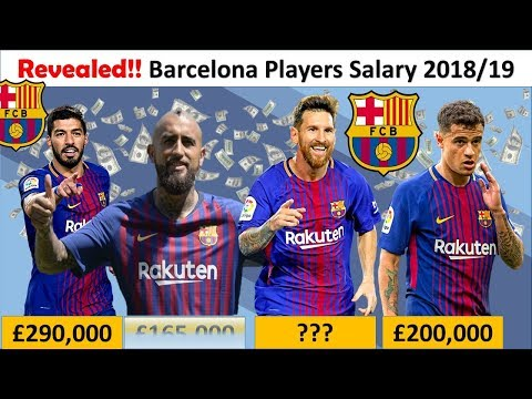 Revealed!! FC Barcelona Player Salaries 2018/19| Barca Full Squad Salary & Contracts