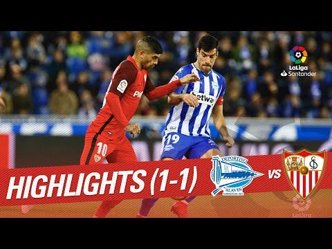 Highlights Deportivo Alaves vs Sevilla FC (1-1)