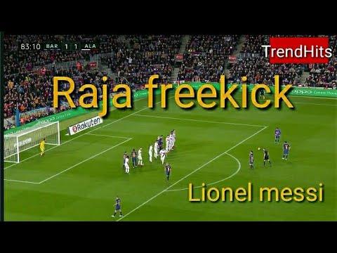 Goal indah freekick lionel messi! Barcelona vs alaves tadi malam 28/1/2018