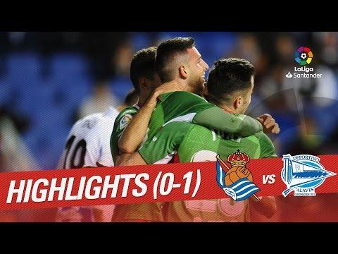 Highlights Real Sociedad vs Deportivo Alaves (0-1)