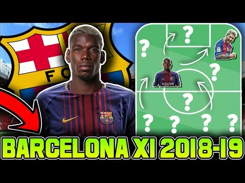 FC BARCELONA Predicted Line Up 2018-2019 With Potential Transfers ft. Pogba Malcom Vidal