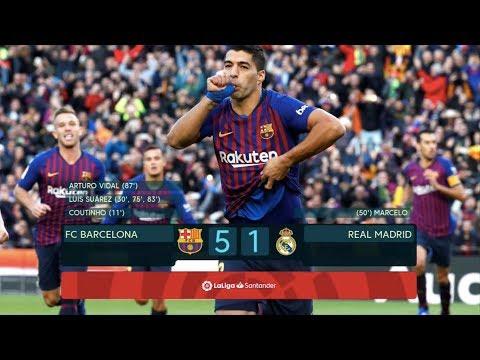Barcelona vs Real Madrid [5-1], El Clasico 2018 – SUAREZ HAT-TRICK – MATCH REVIEW