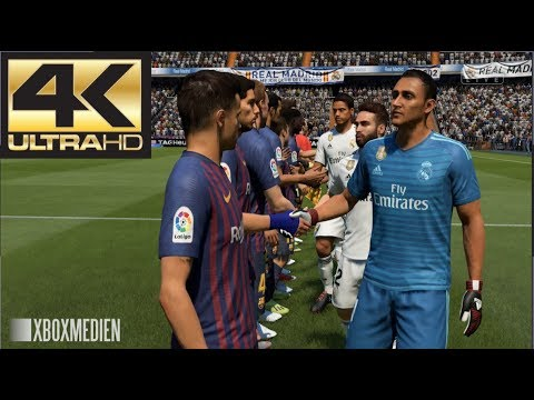FIFA 19 Barcelona vs Real Madrid El Clasico 4K (Xbox One, PS4, PC)