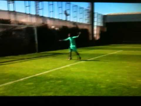 Justin Bieber Playing Football At The Barcelona Training Ground in Spain Never Say Never