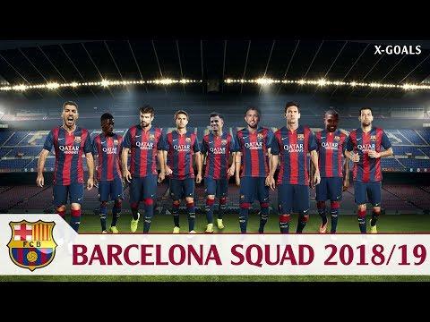 ⚽ BARCELONA SQUAD 2018/19 ALL PLAYERS – FC BARCA TEAM 2019