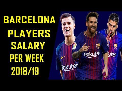 Barcelona Football Players Per Week Salaries 2018/2019