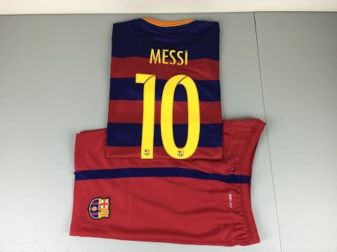 2015/2016 FC Barcelona Replica Home Jersey and Short – Review [4K]