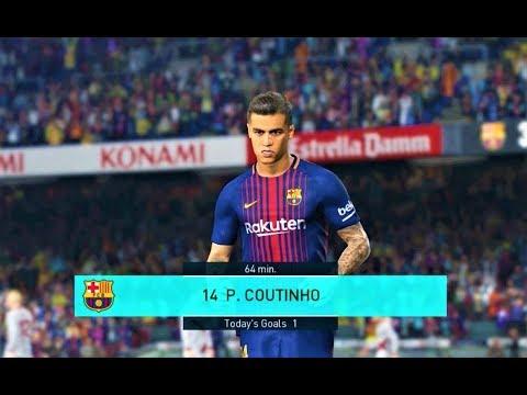 Barcelona vs Alaves 2018   Full Match   PES 2018 Gameplay HD