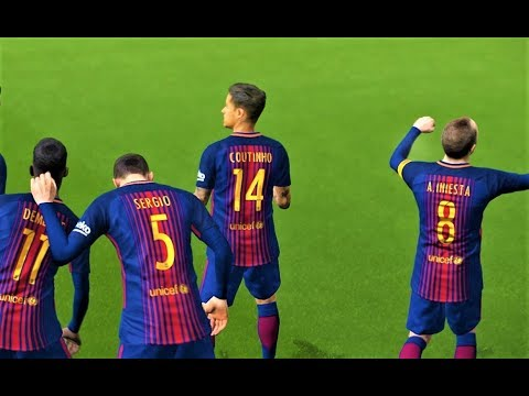 Barcelona vs Deportivo Alaves 2018 | Coutinho 2 Goals | Full Match | PES 2018 Gameplay HD