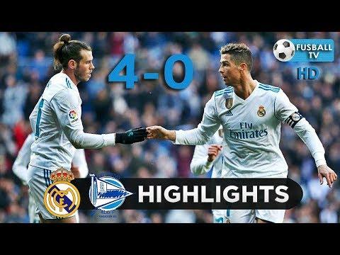 REAL MADRID VS ALAVES 4-0 | Full Match Highlights | 25/2/2018 |