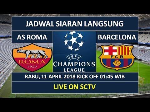 Jadwal live AS Roma v Barcelona di SCTV Rabu 11 April 2018