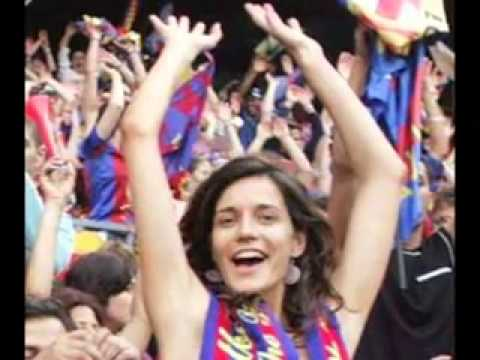 Barcelona fc club song English subtitles   YouTube