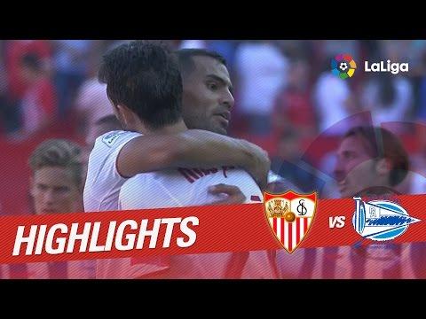 Resumen de Sevilla FC vs Deportivo Alavés (2-1)