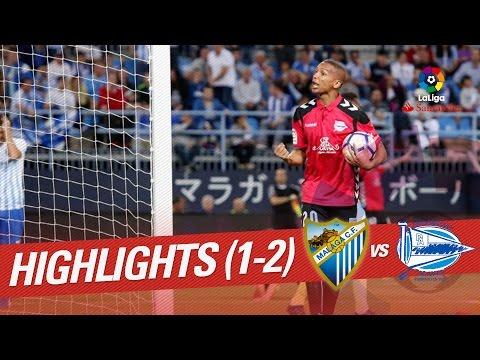 Resumen de Málaga CF vs Deportivo Alavés (1-2)