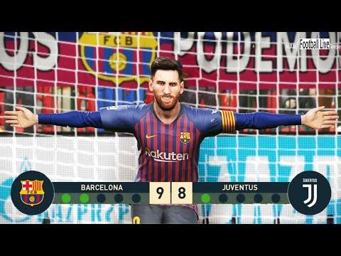 PES 2019 | goalkeeper L.MESSI vs goalkeeper C.RONALDO | Penalty Shootout | Barcelona vs Juventus