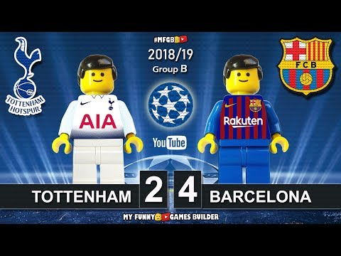 Tottenham vs Barcelona 2-4 • Champions League 2019 (03/10/2018) All Goals Highlights Lego Football