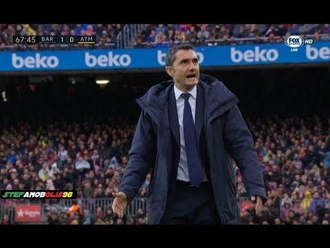 Ernesto Valverde Vs Andrè Gomes ⚽ Barcelona Vs Atletico Madrid 1-0 ⚽ 2018 | HD #AndreGomes