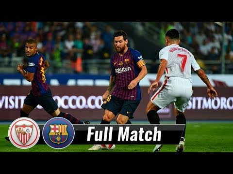 |HD| Sevilla vs Barcelona – Full Match | August 12, 2018 | Spanish Super Cup 2018