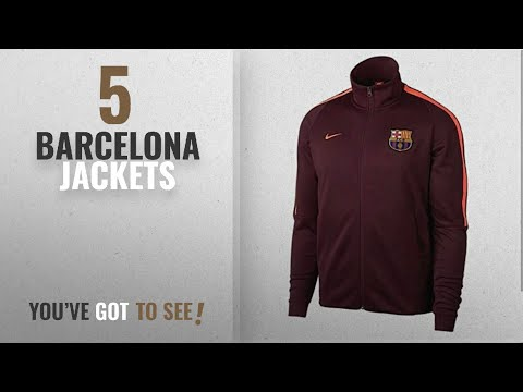 Top 10 Barcelona Jackets [2018]: Barcelona Football Zipper polyester Jacket For Men