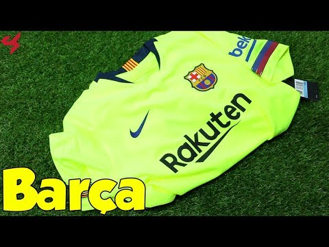 Nike FC Barcelona 2018/19 Away Soccer Jersey Unboxing + Review