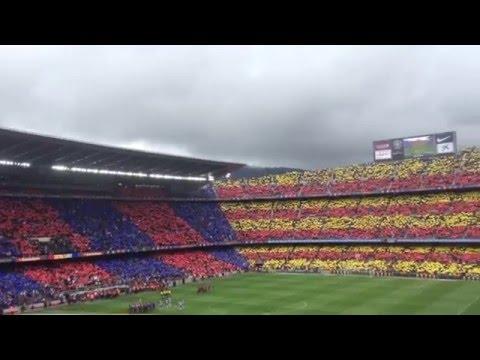 El Cant de Barça / FC Barcelona Anthem – FC Barcelona v Espanyol, 8 May 2016