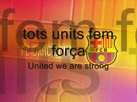 barcelona fc anthem in english and catalan