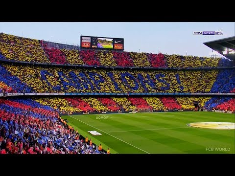 FC Barcelona Anthem in the Camp Nou – El Clasico – HD