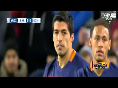 barcelona vs as roma 6 – 1 all goals