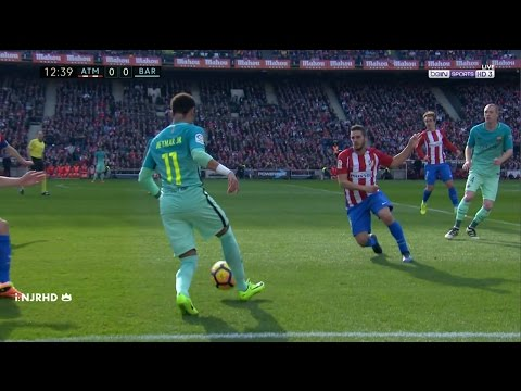 Neymar vs Atlético Madrid | La Liga | 26/2/17 | HD