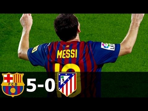 FC Barcelona vs Atletico Madrid 5-0 All Goals and Highlights with English Commentary 2011-12 HD 720