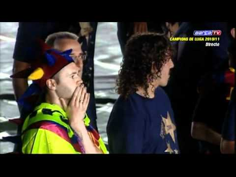 Victor Valdes – FC Barcelona Celebration of La Liga 2010 – 2011 in the Camp Nou