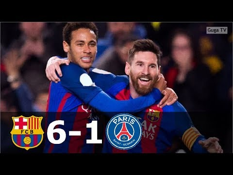Barcelona vs Paris Saint Germain 6-1 – UCL 2016/2017 – Highlights (English Commentary)