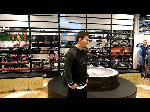 Lionel Messi at the Adidas store opening in Barcelona HD