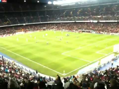 """Barcelona Fans Chanting """"el can't del Barca"""""""