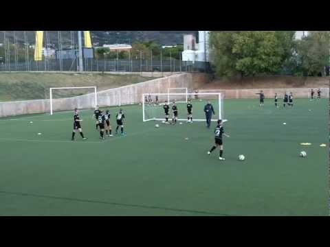 SCEFA training at FC Barcelona – FCB Shooting Drill