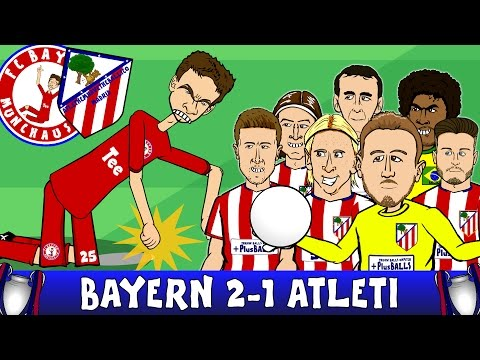 Bayern Munich vs Atletico Madrid 2-1 (UEFA Champions League Semi-Final 2016 2nd Leg 15-16 Parody)