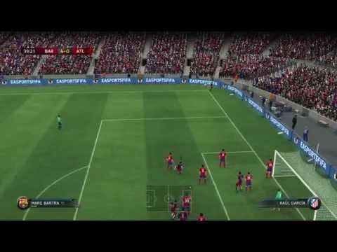 FIFA 16 xbox 360 gameplay Barcelona vs Atletico Madrid HD