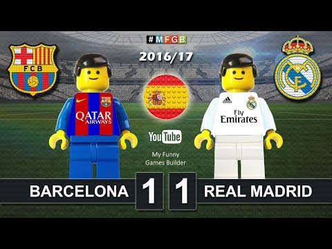Barcelona vs Real Madrid 1-1 • El Clasico • LaLiga 2017 (03/12/2016) goal Lego Football ElClasico
