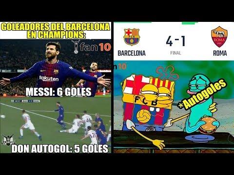 MEMES BARCELONA VS ROMA 4-1 | DOS AUTOGOLES PARA EL BARCA | GOL SUAREZ & PIQUE CHAMPIONS MEMES
