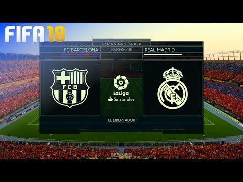 FIFA 18 – FC Barcelona vs. Real Madrid @ El Libertador