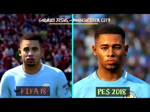 FIFA 18 Vs PES 2018 | Famous Young Players Faces Comparison ft. Dembele, Asensio, Rashford | 1080 HD